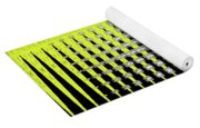 Black Yellow White With Abstract Action Yoga Mat