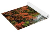 Blazing Red Mountain Maple, Greys River Yoga Mat