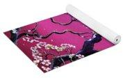 Blossoms In Fuchsia Moonlight Yoga Mat