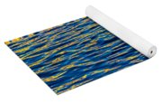 Blue And Gold Yoga Mat