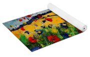 Blue And Red Poppies 45 Yoga Mat