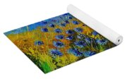 Blue Cornflowers Yoga Mat