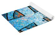 Blue Marbled Cross Yoga Mat