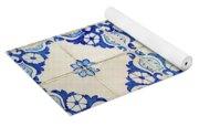 Blue Diamond Flower Tiles Yoga Mat