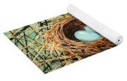Blue Eggs In Nest Yoga Mat