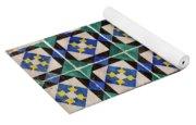 Blue Green Lisbon Tiles Souvenirs Yoga Mat