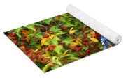 Blue Jay And Berries Yoga Mat