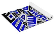 Blue Maze Yoga Mat