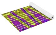 Blue Sky And Color Squares Abstract,#4 Yoga Mat