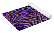 Blue White And Red Abstract #2944e2c Yoga Mat