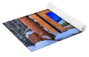 Bow Valley Parkway Snowy Entrance Yoga Mat