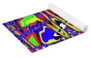 Bright Color Mix Abstract Yoga Mat