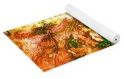 Bright Colored Leaves On The Branches In The Autumn Forest Yoga Mat