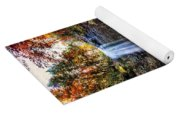 Brilliant Fall Waterfall At Cloudland Canyon Yoga Mat