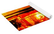 Bull At Night Yoga Mat