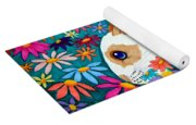 Bunny And Flowers Yoga Mat
