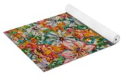 Burst Of Flowers Yoga Mat