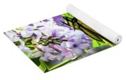 Butterfly And Lilacs Yoga Mat