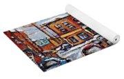 Buy Original Wilensky Montreal Paintings For Sale Achetez Petits Formats Scenes De Rue Street Scenes Yoga Mat