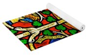 Byzantine Stained Glass Yoga Mat