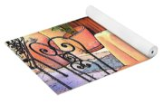 Cafe In Montepulciano Tuscany Yoga Mat