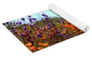 California Poppies And Wildflowers Yoga Mat