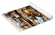 Candid Bored Yawn Pj Exotic Travel Blue City Streets India Rajasthan 1a Yoga Mat