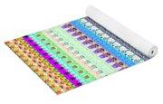 Candy Glitch Yoga Mat