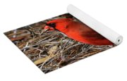 Cardinal On Pine Straw Yoga Mat