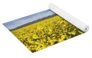 Carrizo Plain Desert Sunflower Field Afternoon Yoga Mat