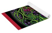 Celtic Day Of The Dead Skull Yoga Mat