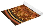 Celtic Dragonfly Mandala In Orange And Brown Yoga Mat