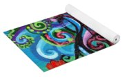 Chase Of The Faerie Note Bubble Yoga Mat