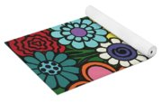 Checkered Bouquet Yoga Mat