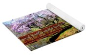 Cherry Trees In The Park Yoga Mat