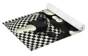Chessboard And 3d Chess Pieces Composition Yoga Mat