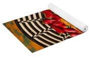 Chili Peppers In Basket  Yoga Mat