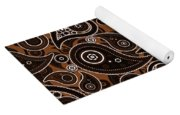 Chocolate Brown Paisley Design Yoga Mat