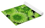 Chrysanthemum Green Button Pompon Kermit Yoga Mat
