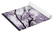 Church Clock In Autumn Yoga Mat