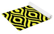 Circle And Oval Ikat In Black N05-p0100 Yoga Mat