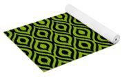 Circle And Oval Ikat In Black N09-p0100 Yoga Mat