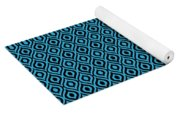 Circle And Oval Ikat In Black N18-p0100 Yoga Mat