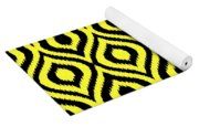 Circle And Oval Ikat In Black T05-p0100 Yoga Mat