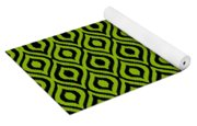 Circle And Oval Ikat In Black T09-p0100 Yoga Mat