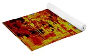 City In Red Yoga Mat