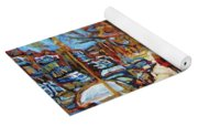 Cityscene In Winter Yoga Mat