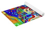 City At Night Music And Wine Abstract Yoga Mat