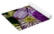 Purple Clematis Flower Vines Yoga Mat