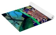 Clematis Regal In Purple And Blue Sold Yoga Mat